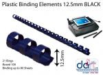BINDING ELEMENTS 12.5MM BLACK