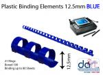 BINDING ELEMENTS 12.5MM BLUE