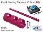 BINDING ELEMENTS 12.5MM RED