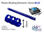 BINDING ELEMENTS 16MM BLUE