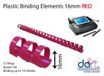 BINDING ELEMENTS 16MM RED