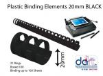 BINDING ELEMENTS 19MM BLACK