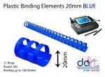 BINDING ELEMENTS 19MM BLUE