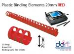 BINDING ELEMENTS 19MM RED