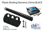BINDING ELEMENTS 25MM BLACK