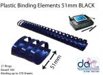 BINDING ELEMENTS 51MM BLACK
