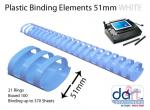 BINDING ELEMENTS 51MM WHITE