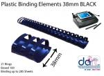 BINDING ELEMENTS 38MM BLACK