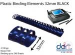 BINDING ELEMENTS 32MM BLACK