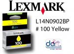 LEXMARK L14N0902BP #100 YELLOW STD YIELD