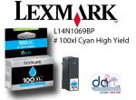 LEXMARK L14N1069BP #100XL CYAN HIGH YIELD