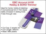 TRIMMER GBC ACCUCUT A100