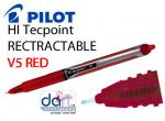 PILOT HI TEC V5 RETRACTABLE RED