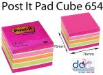 POST IT PADS #654 CUBE RE 2027