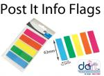 POST IT INFO FLAGS BRILLIANT SET 5