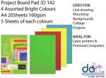 PROJECT PAD BOARD ASSTD A4 20SHTS