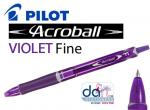 PILOT ACROBALL BALLPEN PURPLE FINE 0.7MM