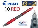 PILOT G2-10 RETRACT RED