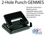 PUNCH 2-HOLE GENMES 20 SHEETS 9730 BLACK