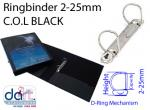 RINGBINDER C.O.L 2-25MM  BLACK