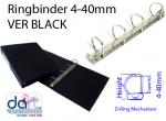 RINGBINDER 4-40MM VER BLACK