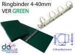 RINGBINDER 4-40MM VER GREEN