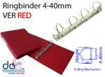 RINGBINDER 4-40MM VER RED