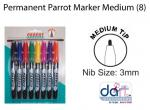 PERM PARROT MARKER MEDIUM CARD(8)